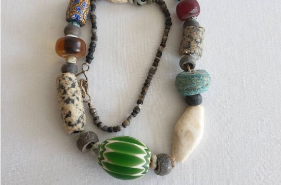 copy of Perles de pierre Agate blanches